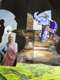 This was a piece of my scene created from magazine pieces.